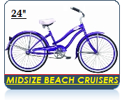 Mid Size Beach Bikes for Teens and Smaller Adults - CLICK IMAGE